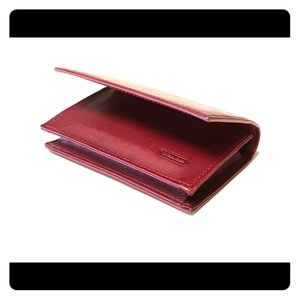 COACH Vintage Burgundy Card Case